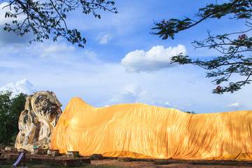 Buddha sleep statue