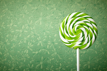 large spiral lollipop on stick