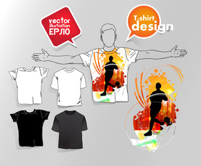 T-shirt with music event illustration