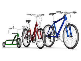 men's, women's and children's bikes
