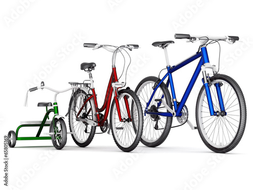 men's, women's and children's bikes