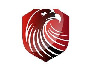 hawk logo eagle symbol icon red head emblem