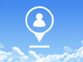 people location marker cloud shape