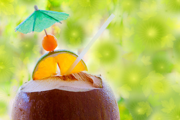 Tropical coconut cocktail  .