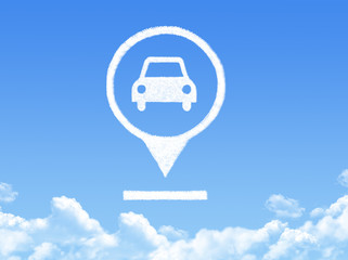 Car location marker cloud shape