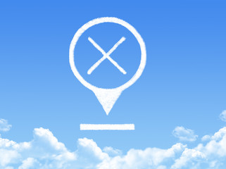 cross location marker cloud shape