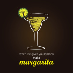 Margarita Cocktail, with positive thinking message
