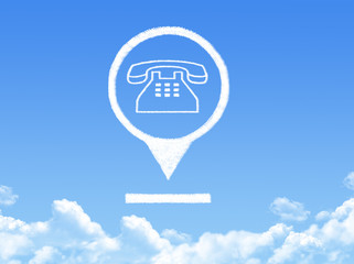 phone location marker cloud shape