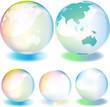 虹色のシャボン玉、地球