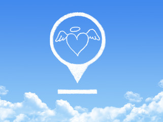love location marker cloud shape
