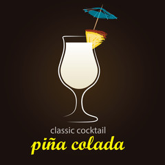 Pina Colada in authentic Poco Grande glass