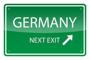 Green road sign, vector - Germany