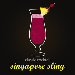 Singapore Sling - Classic Cocktail