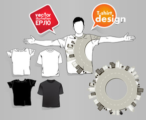 Vector t-shirt design template