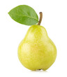 ripe green pear isolated on white background