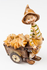 Boy Doll with Corn Cart