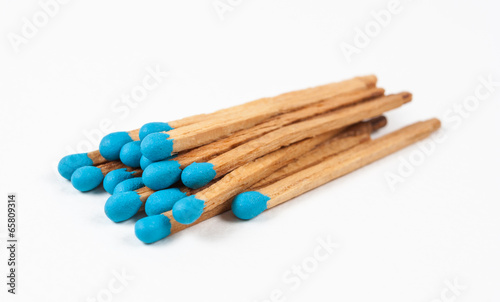 Pile of Blue Matchsticks