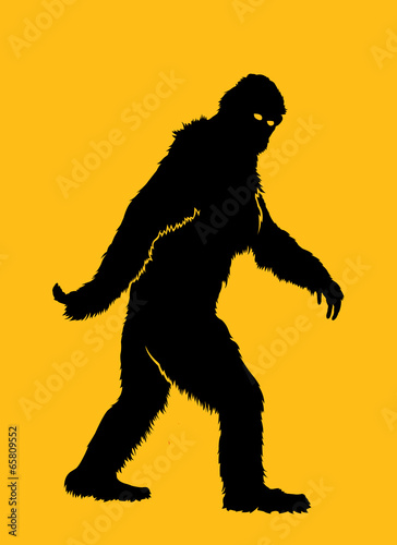Bigfoot Silhouette Illustration - 65809552