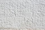 Fototapety White plastered brick wall
