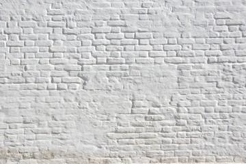White plastered brick wall