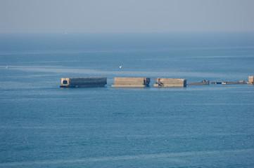Port artificiel d'Arromanches D-DAY