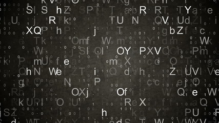 numbers and letters data loopable background