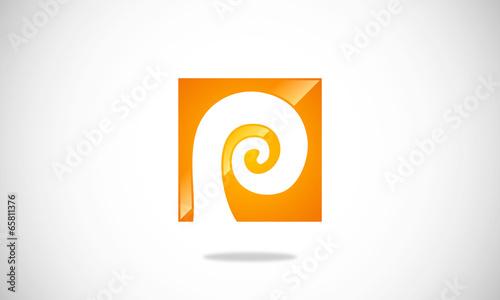 letter P curl logo