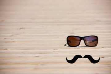 hipster glasses with mustache