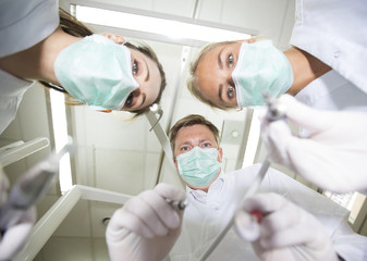 Dentist and nurses