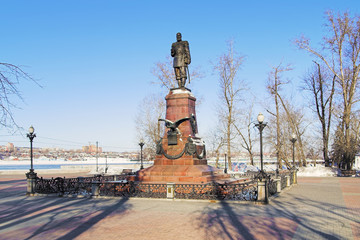 Monument of Alexander III in Irkutsk, Russia