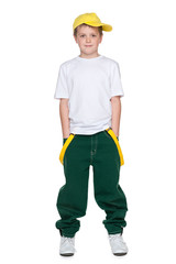 Fashion handsome young boy