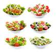 Leinwanddruck Bild - set of varioust salads