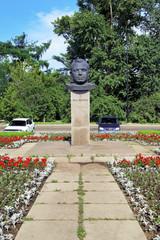 Monument of Yuri Gagarin in Irkutsk, Russia