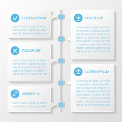 Infographic template banners
