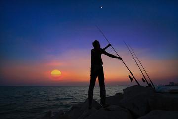 holding fishing