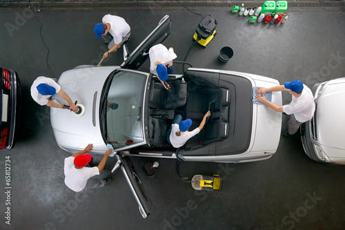canvas print picture Car cleaning at its best