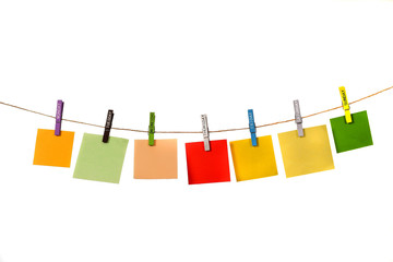 Color Memos Hanging With Name Day Cloths Pin