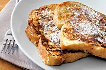 Plate of French Toast with powdered sugar
