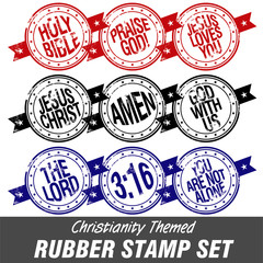 Christianity Themed Rubber Stamps