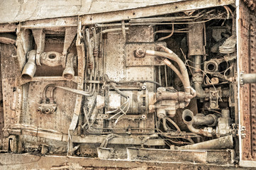 rusted machine parts used in the aviation industry