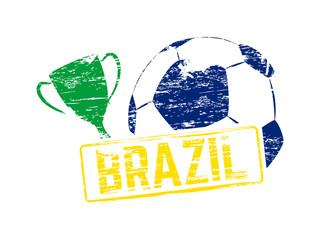 Vector Brazil stamp