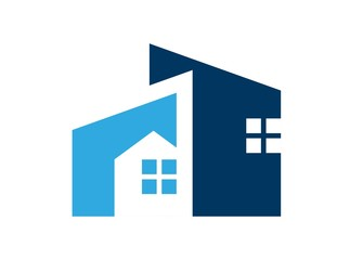 house logo real estate symbol icon build
