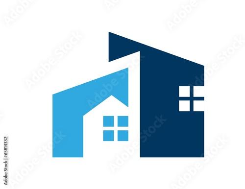 house logo real estate symbol icon build - 65814332