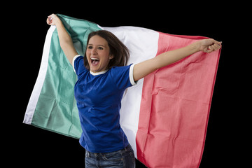 Female Italian fan