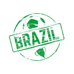 Brazil grunge rubber stamp