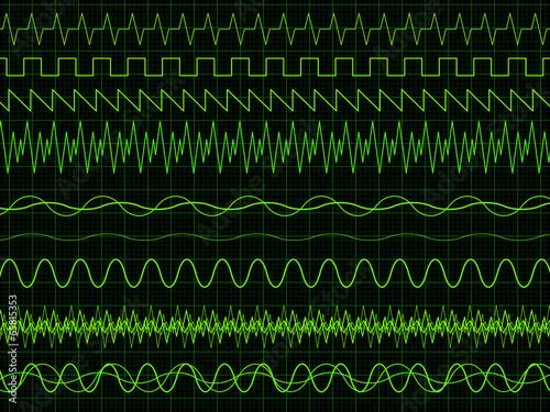 Oscilloscope Waves - 65815353
