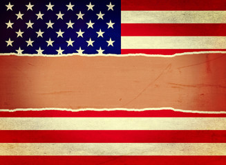 Ripped Vintage USA Flag