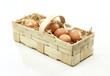Leinwanddruck Bild - Korb mi Eiern