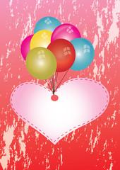 serce z balonami