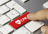 Heart. CPR. Keyboard poster